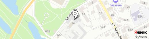 Гатчинские городские электрические сети на карте Гатчины