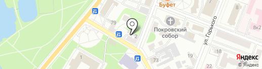На Красной на карте Гатчины