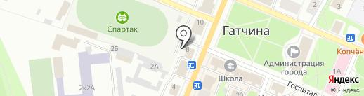 Управление МВД России по Гатчинскому муниципальному району на карте Гатчины