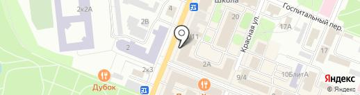 Кантата на карте Гатчины