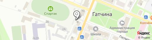 Спартак на карте Гатчины