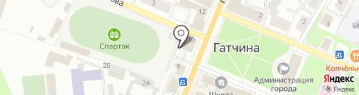 Юридический кабинет Николаева Д.А. на карте Гатчины