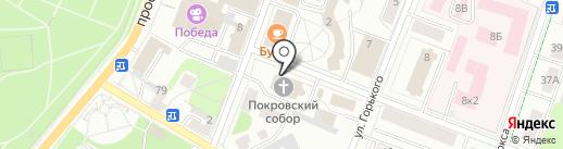 Покровский собор на карте Гатчины
