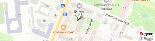 Магазин нижнего белья на карте Гатчины