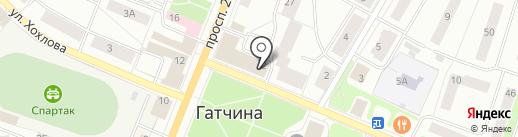 Центр социального обслуживания граждан Гатчинского муниципального района на карте Гатчины