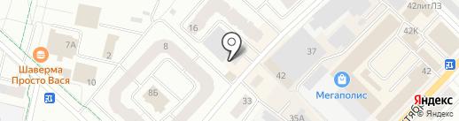 Магазин одежды и обуви на карте Гатчины