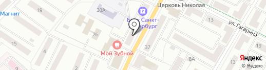 Банк Советский на карте Гатчины
