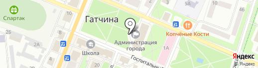 Совет депутатов муниципального образования г. Гатчина на карте Гатчины