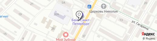 Банк Санкт-Петербург, ПАО на карте Гатчины