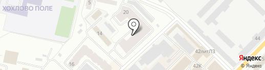 Хохловка на карте Гатчины