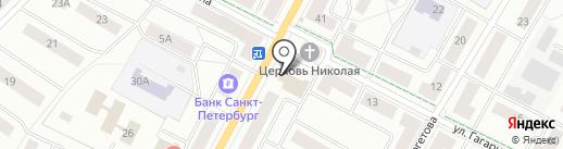 Магазин женской одежды и аксессуаров на карте Гатчины
