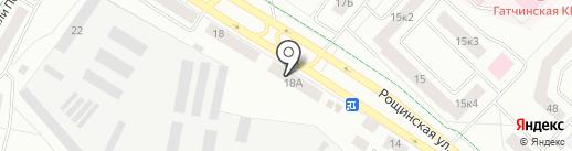 Заря-2 на карте Гатчины