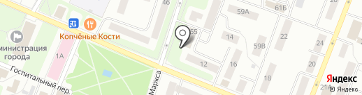 Магазин-мастерская трикотажных изделий на карте Гатчины