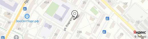 Мебельный магазин на ул. Киргетова на карте Гатчины