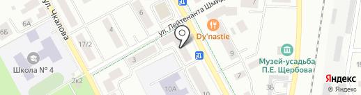 Иномарка на карте Гатчины