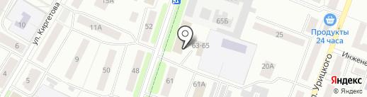 Интершина на карте Гатчины