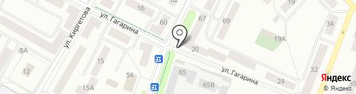 Домашний на карте Гатчины