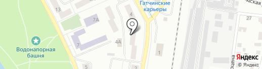 Аптека №51 на карте Гатчины