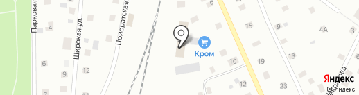 Кром на карте Гатчины