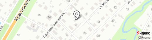 Фиалка на карте Богашёво