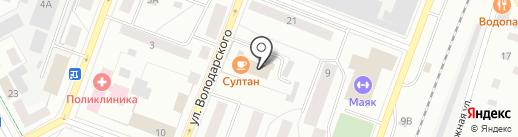 Айкуне-центр на карте Гатчины