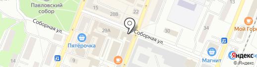 Магазин хлебобулочных изделий на карте Гатчины