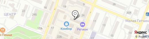 Магазин товаров для дома на ул. Володарского (Гатчинский район) на карте Гатчины