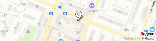 Сеть магазинов на карте Гатчины