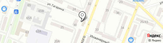 Виа на карте Гатчины