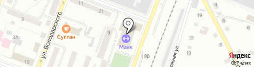 Маяк на карте Гатчины