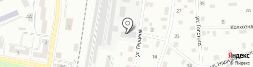 Гарант на карте Гатчины