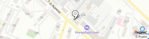 Служба заказа легкового транспорта на карте Гатчины