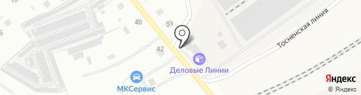 Ленточка на карте Гатчины