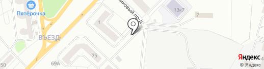 Автостоянка на Пушкинском шоссе на карте Гатчины