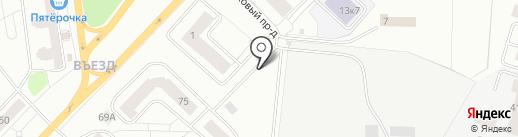 Автостоянка на карте Гатчины
