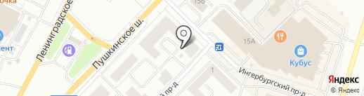 Ленстройтрест, ЗАО на карте Гатчины
