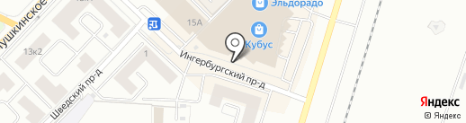 Фабрика Химчистки №1 на карте Гатчины