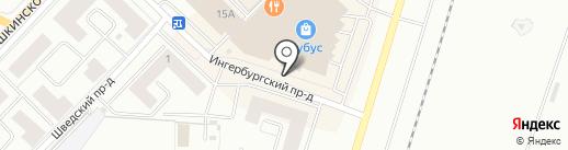 Котофей на карте Гатчины
