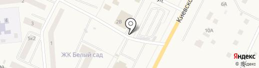 Автостоянка на карте Малого Верево