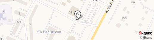 Автостоянка на Киевском шоссе (Гатчинский район) на карте Малого Верево