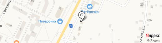 Автотоварищ на карте Малого Верево