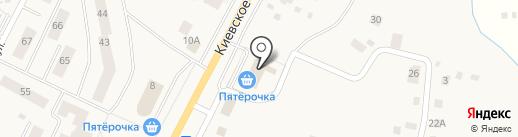 Сотка на карте Малого Верево