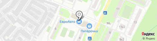 Автокомплекс на Заречной (Всеволожский район) на карте Сертолово