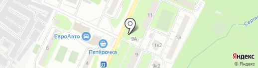 Магазин мяса на Заречной (Всеволожский район) на карте Сертолово