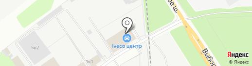 Аквамарин на карте Сертолово