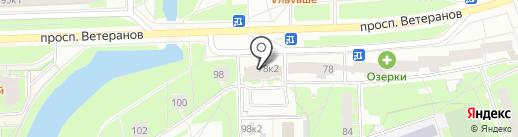 Ветеранов 78-2, ТСЖ на карте Санкт-Петербурга
