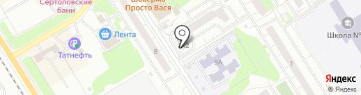 Нотариус Ястребова Е.Е. на карте Сертолово