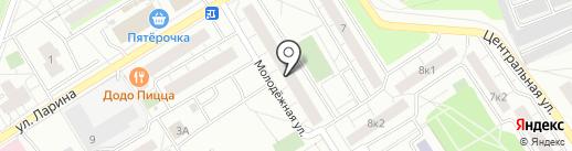 Продуктовый магазин на Молодёжной на карте Сертолово
