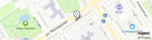 Магазин продуктов из Белорусии на ул. Молодцова на карте Сертолово