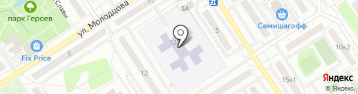 Сертоловская средняя общеобразовательная школа №2 с дошкольным отделением на карте Сертолово
